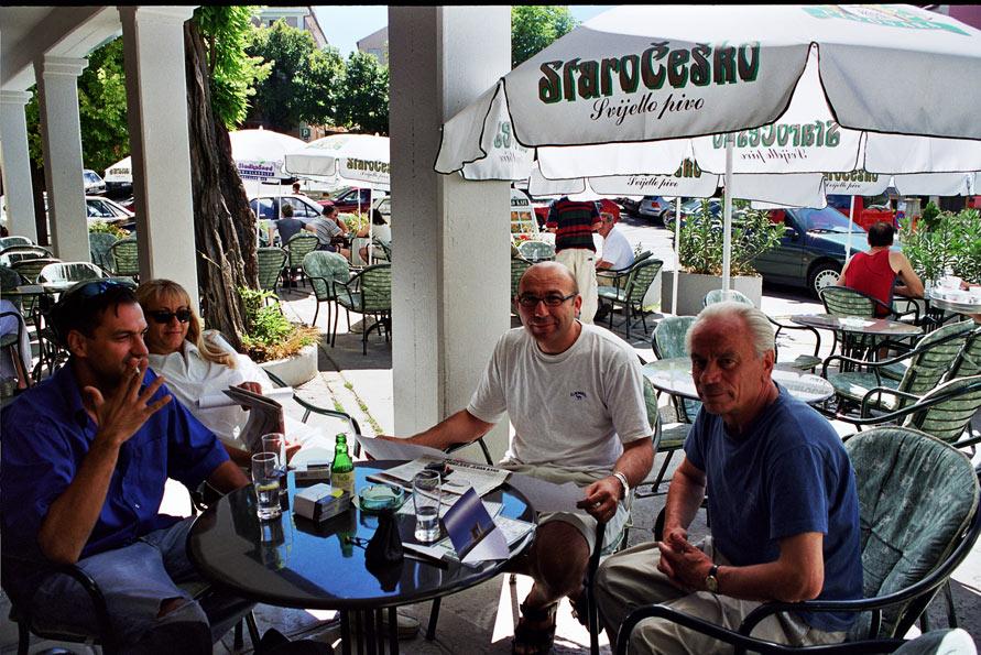 meeting in Labin, Velo Kafe - Tihomir Milovac, Branka Cvjetičanin, Nedjeljko Mikac, Josip Diminić